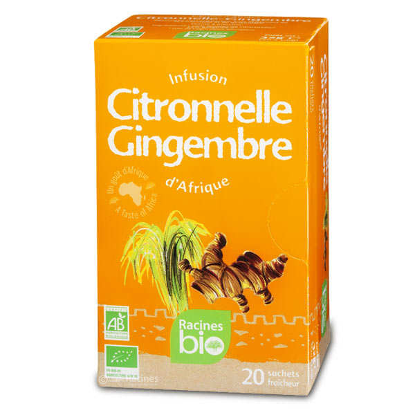 Infusion d'Afrique citronnelle-gingembre bio