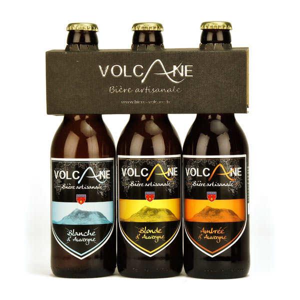 Bières artisanales Volcane - Blonde, blanche et ambrée