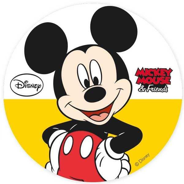Disque azyme Mickey Mouse (disque en sucre décoré)