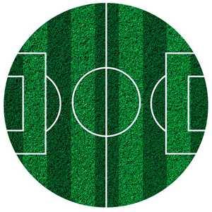 Dekora - Disque azyme terrain de football (disque en sucre décoré)