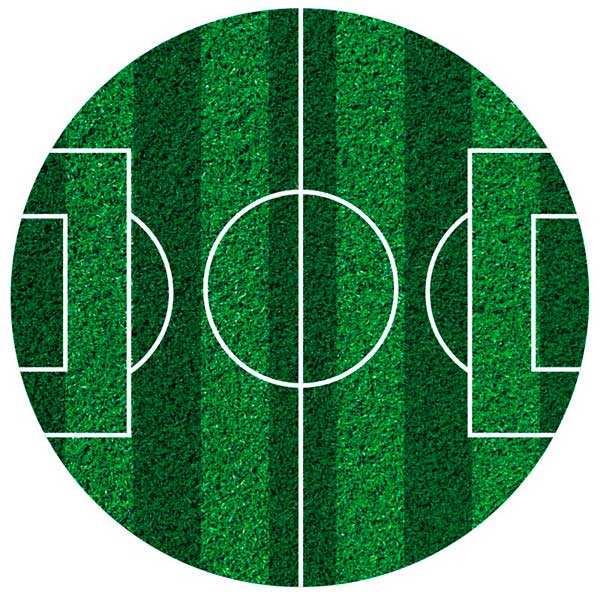 Disque azyme terrain de football (disque en sucre décoré)