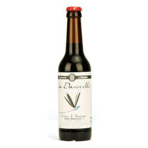 Brasserie de l'Alagnon - La Damoiselle bière brune bio 4,5%