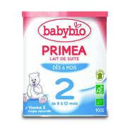 Baby Bio - Lait bio de suite Priméa 2ème âge