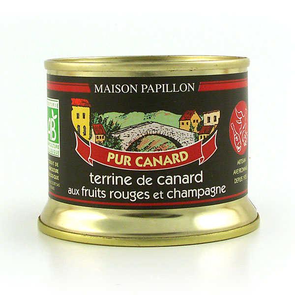 Terrine de canard aux fruits rouges et champagne bio - boîte 130g