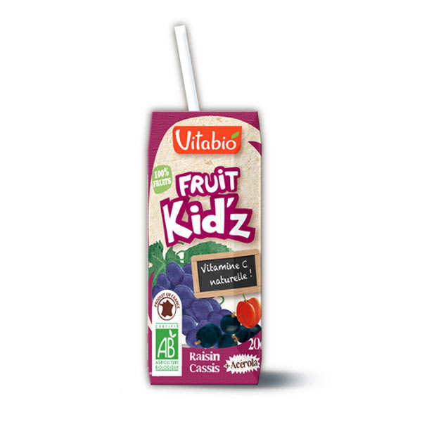 Organic Kid'z Fruit Juice Grapefruit Blackcurrant Acerola