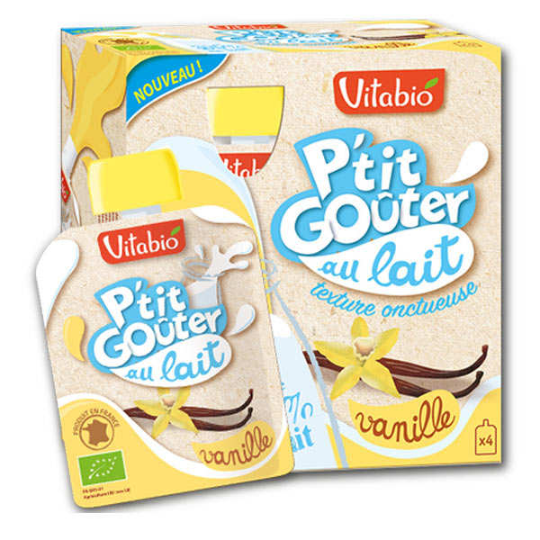 "Organic ""P'tit Goûter"" with Milk and Vanilla"