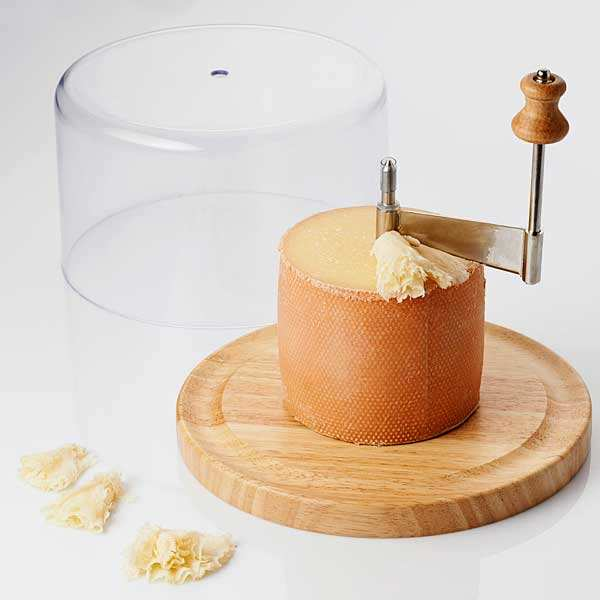 Racloir à fromage Tête de moine avec cloche