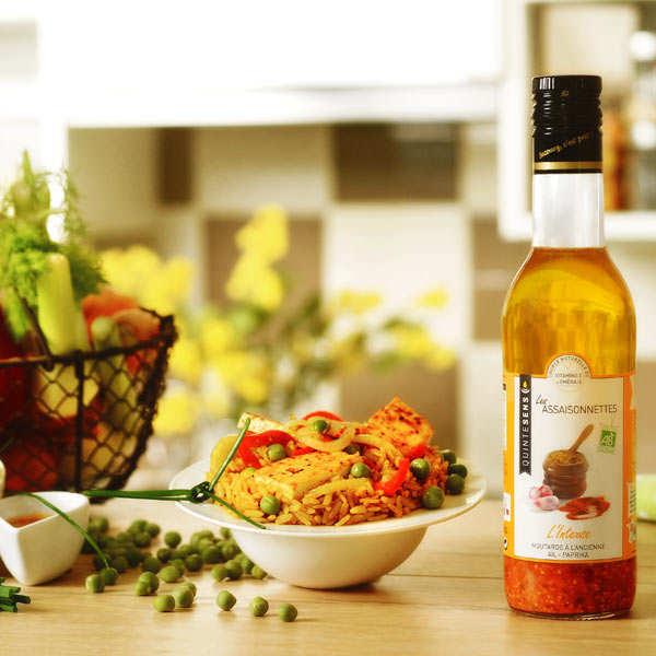 Vinaigrette bio intense 100% naturelle sans émulsion