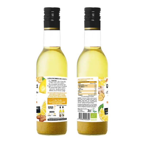 Vinaigrette bio tonique 100% naturelle sans émulsion
