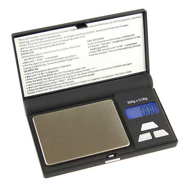 High precision set of scales (300g/0.05g)
