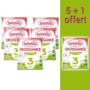 Baby Bio - Lait bio Croissance en poudre - dès 10 mois  promo 5+1