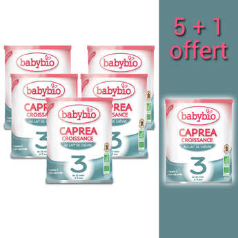 Baby Bio - Organic Goat Milk Caprea - 10 months to 3 years old - promo 5+1