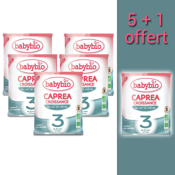 Organic Goat Milk Caprea - 10 months to 3 years old - promo 5+1