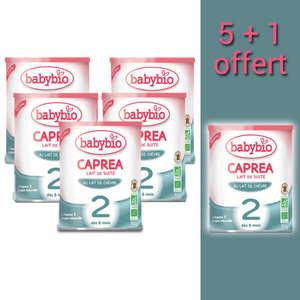 Baby Bio - Lait de chèvre bio Caprea - dès 6 mois  - promo 5+1