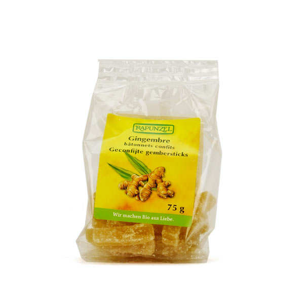 Organic Candied Ginger Stick