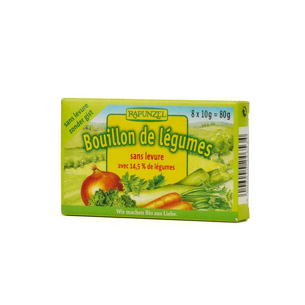 Organic and yeast-free broth cubes