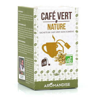 Aromandise - Café vert en sachet bio