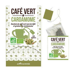 Aromandise - Organic Green Coffee with cardamom in muslin bag