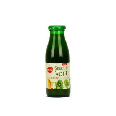 Smoothie vert mangue chou kale et épinard bio demeter