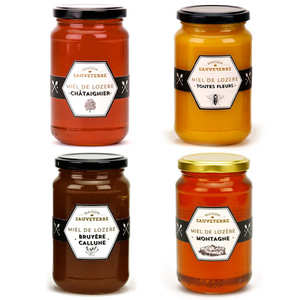 Maison Sauveterre - 4 Assorted Honeys from Lozère
