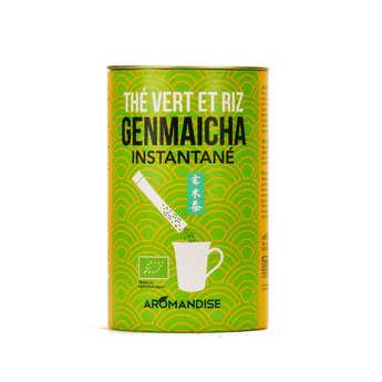 Aromandise - Sticks de thé Genmaicha et riz instantané bio