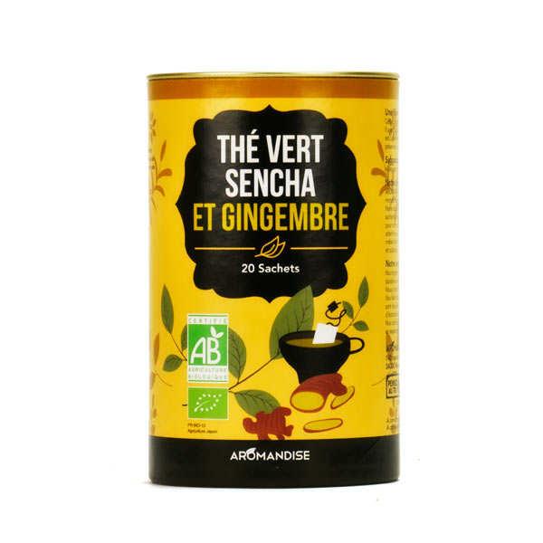 Duo thé vert Sencha et gingembre bio
