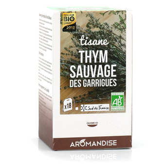 Aromandise - Tisane thym sauvage des Garrigues bio