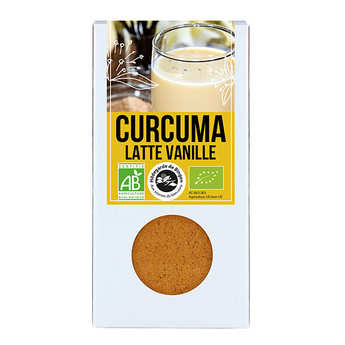 Aromandise - Curcuma Latte vanille bio - Préparation pour lait d'or
