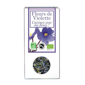 Aromandise - Fleurs de violette bio - Fleurs à croquer et à cuisiner