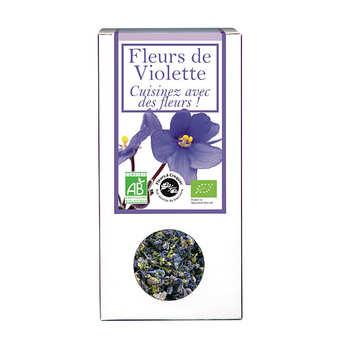 Aromandise - Fleurs de violette comestible bio pour infusion et cuisine