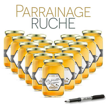 Sponsor a beehive - Lozère All Flowers Honey 2019