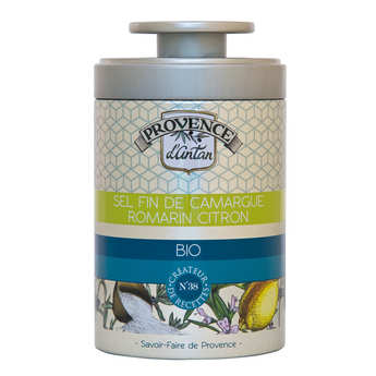Provence d'Antan - Organic Fine Salt from Camargue with Lemon and Rosemary