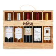 BienManger paniers garnis - Coffret bois 5 vins de Bordeaux et Dordogne