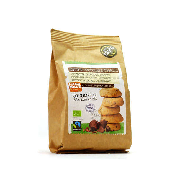 Organic Butter and Chocolate Drops Cookies