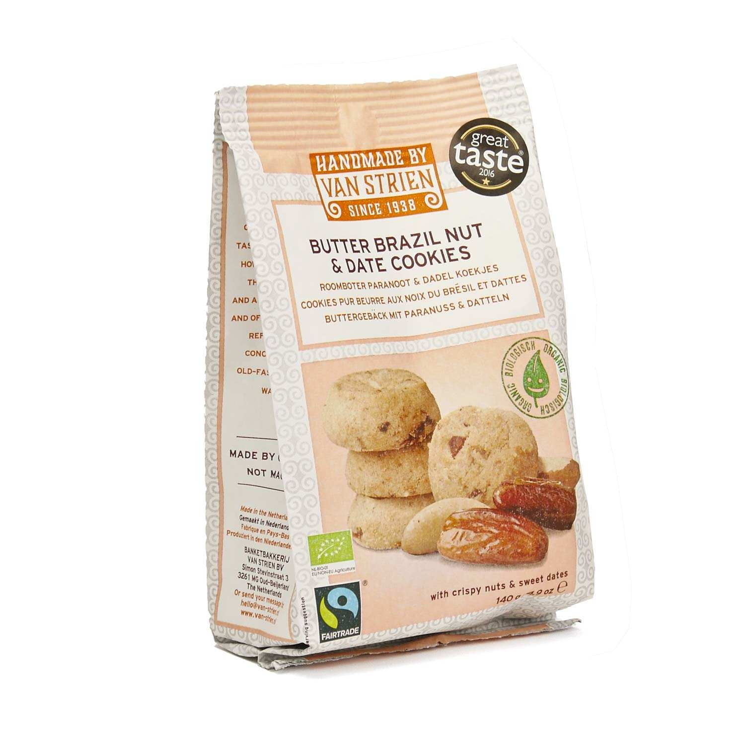 Organic Butter and Brasil nuts and dattes Cookies