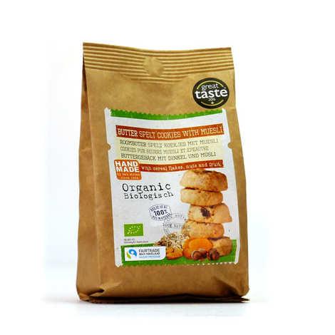 Van Strien - Cookies au beurre, muesli et épeautre bio et équitable
