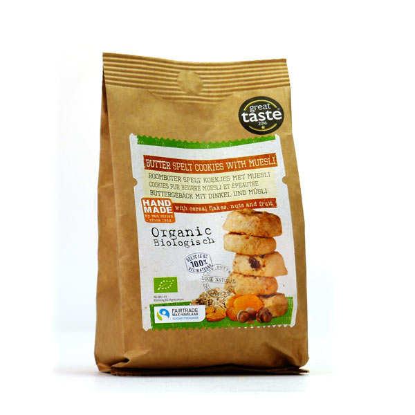 Cookies au beurre, muesli et épeautre bio et équitable