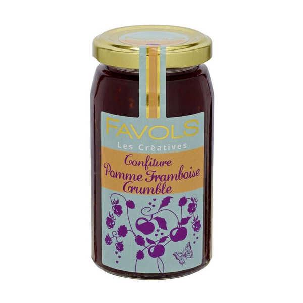 Apple Raspberry Crumble Jam