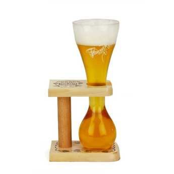 Brasserie Bosteels - Verre à bière Pauwel Kwak 33cl et support bois