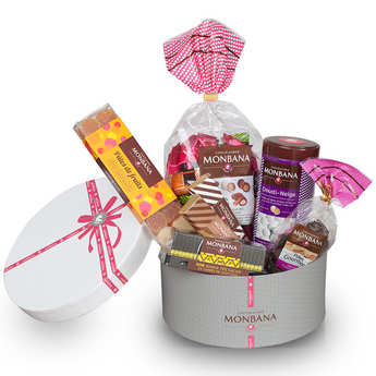 Monbana Chocolatier - La corbeille chapeau Monbana - coffret cadeau chocolat