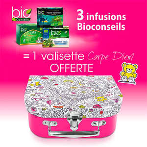 Bio Conseils - 3 Organic Tea Infusions + 1 free little suitcase