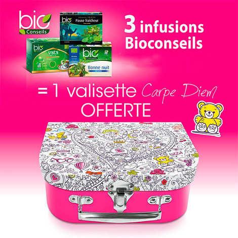 Bio Conseils - 3 Organic Berb Teas + 1 free little suitcase