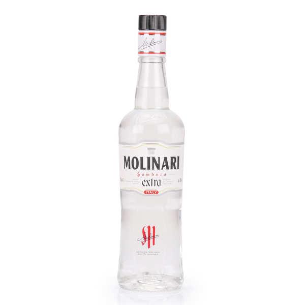Liqueur anisée Sambuca Molinari Extra avec son verre  40%