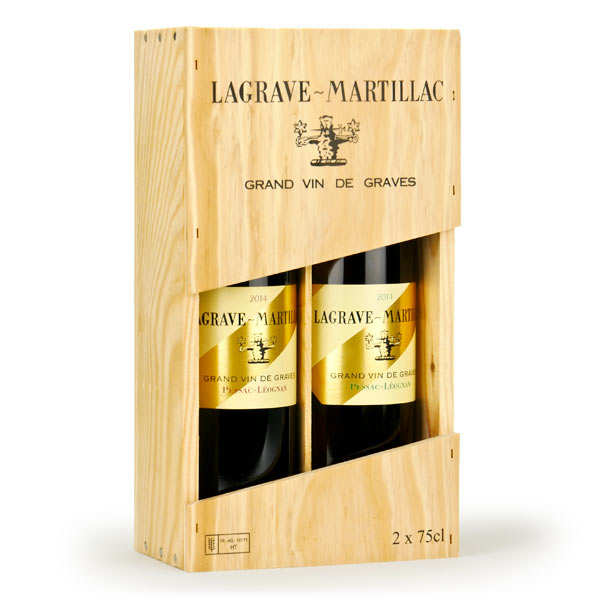 Box of 2 Lagrave Martillac bottles (white and red Pessac Leognan)