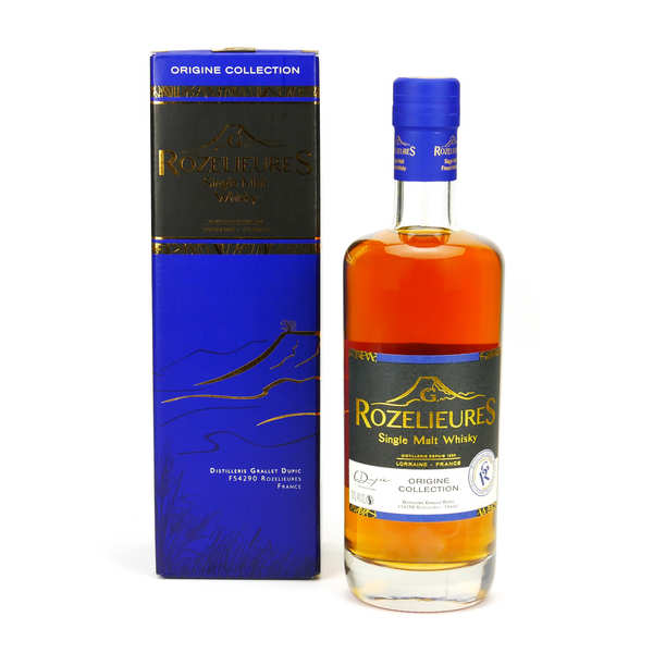 Whisky rozelieures single malt de lorraine - collection origine 40% - bouteille 20cl