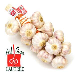 Les Aulx du Sud-Ouest - Ail rose de Lautrec en tresse Label Rouge