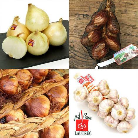 - Assortment of smoked garlic, onions and shallot