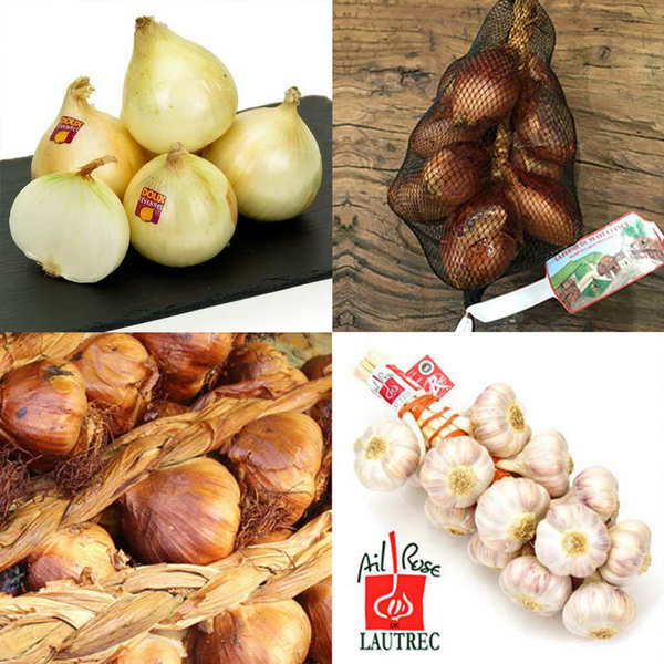 Assortment of smoked garlic from Arleux IGP