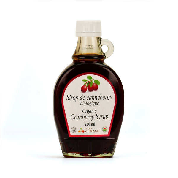 Organic cranberry syrup from Canada
