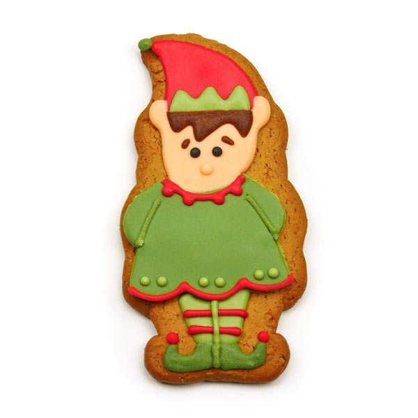 Mr Elf Gingerbread Shelf